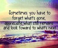 Appreciate what still remains