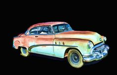 Buick In Watercolor by Cathy Anderson - Buick In Watercolor Digital Art - Buick In Watercolor Fine Art Prints and Posters for Sale