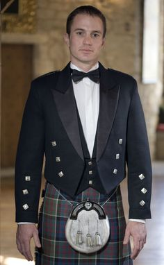 Classic Prince Charlie Jacket and Vest by Scotweb Tartan Mill