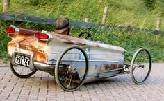 Rat Rod pedal car made from old Oldsmobile
