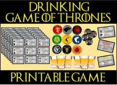 Game of Thrones Drinking Game Which one of your friends will claim the crown, and which of your friends will lose the battle and pass out on your couch? Game Of Thrones Beer, Game Of Thrones Party, Game Of Thrones Dragons, Game Of Thrones Quotes, Game Of Thrones Funny, Funny Drinking Games, Drinking Games For Parties, Game Of Thrones Premiere, Game Of Thrones Instagram