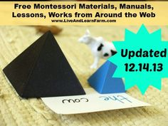 Free Montessori Materials from Around the Web updated 12.14.13 - Live and Learn Farm