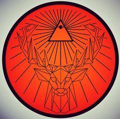 #jagermeister #illuminati #orange #adobedraw #adobeillustrator #polygon by nkchan_art