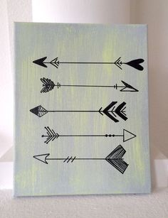 arrow painting canvas arrow sign farmhouse by THERUSTICBEACHHOUSE