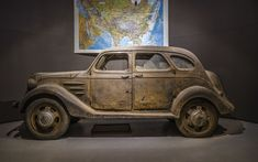 1936 Toyoda Model AA 02.  Only 1,404 examples of Toyota's first passenger car, the Toyoda Model AA, were built in the six years of production from 1936 to 1942. This is the only surviving example and was recently found in Russia in 2015.