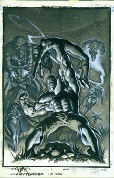 Mark Texeira Hulk Rules! Comic Art