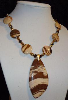 Hey, I found this really awesome Etsy listing at https://www.etsy.com/listing/118894368/zebra-jasper-necklace
