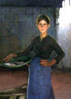 Elizabeth Adela Forbes - The Zandvoort Fishergirl 1884 - Elizabeth Forbes (artist) - Wikipedia, the free encyclopedia