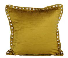Lemon Grass Couch Cushion Covers 16 x 16 Pillow by TheHomeCentric