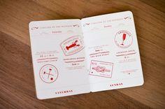 passport-inspired wedding itinerary