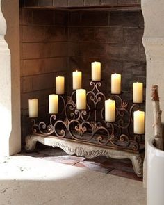 19 Best Candles In Fireplace Images Chandeliers Diy Ideas For