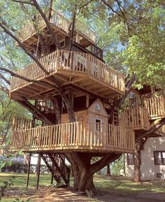 I want this tree house! a tree house I never had! Future House, My House, House Yard, House Rooms, Cool Tree Houses, Tree House Designs, In The Tree, Big Tree, Play Houses