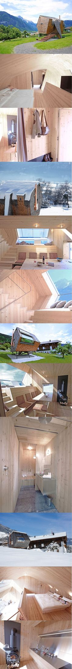 You will fall in love with this little wooden house nestled in the Austrian Alps