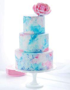 Watercolor Graffiti Cake by Sweetapolita
