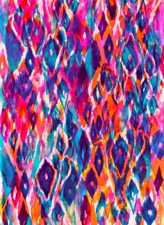 watercolor ikat