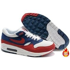 Nike Air Max 1 Women Shoes White/Navy/Red Color