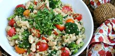Quinoa Salad with White Beans and Vegetables. 7 Weight Watchers Points Plus Per Serving
