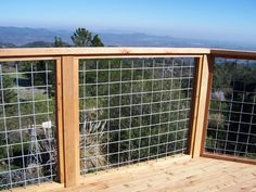 Building a porch without deck railing will be almost impossible. Thus, many designs of deck railing are available so people can choose whichever they like. Metal Deck Railing, Deck Railing Systems, Deck Railing Design, Patio Railing, Deck Design, Deck Stairs, Metal Fence, Wire Fence, Roof Design