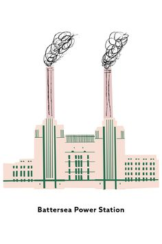 Illustration of Battersea Power Station (London) - Hinda