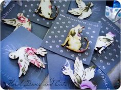 Handmade brooches by Retro Violet