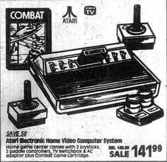An Atari 2600 for $141.99! That is about $365.04 in todays money. This ad is from 1981, 4 years after the system was released!