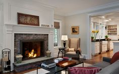 family room decorating ideas with fireplace | ... family room fireplace mantel Design Ideas, Pictures, Remodel and Decor