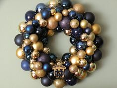 Notre Dame Ornament Wreath by dottiegray on Etsy, $58.00
