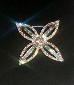 Stunning Vintage Silvertone Aurora Borealis AB Clear Rhinestones Brooch Pin | eBay https://www.facebook.com/AColourfulPast