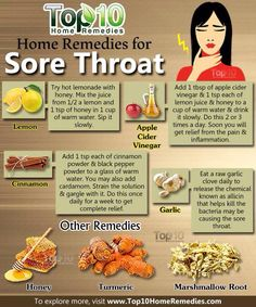 Natural ways to help with a sore throat