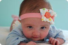 DIY baby girl headband