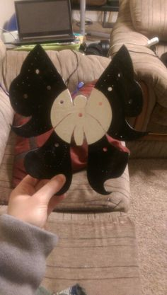 butterfly cut out of a record