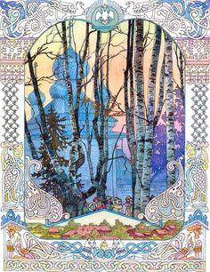 Ivan Bilibin - artist inspired by Russian fairy tales and Slavic folklore – Meet the Slavs Ivan Bilibin, Art And Illustration, Illustrations, Botanical Illustration, Fantasy Kunst, Fantasy Art, Inspiration Art, Wayne Thiebaud, Fairytale Art