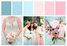 Pastel Pink & Blue Wedding Inspiration Board - Designcat Weddings