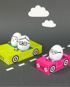 Free Printable Cars For Easter Eggs by Mr. Printable