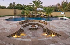 A Tampa Bay Buccaneer teams up with professionals to build the swimming pool design of his dreams Backyard Pool Landscaping, Backyard Patio Designs, Swimming Pools Backyard, Swimming Pool Designs, Pool Spa, Swimming Pool Builders, Backyard Design With Pool, Amazing Swimming Pools, Building A Swimming Pool