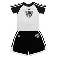 adidas Brooklyn Nets Infant Team-Colored T-Shirt and Short Set Sports  Fanatics 69307bd54