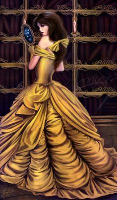 Artist:Jenny Eight Belle cosplay Disney Princess Beauty & the Beast gold yellow Costume Gown Ball Dress #timetravelcostumes @TimeTravelStyle