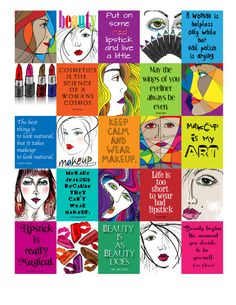 Beauty/Makeup Life Planner Printable 1.5x1.9 by ArtByMarnie