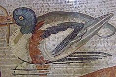 Duck Detail from Mosaic depicting a Nilotic scene from the House of the Faun in Pompeii Roman 2nd century BCE - 79 CE | Flickr - Photo Shari...