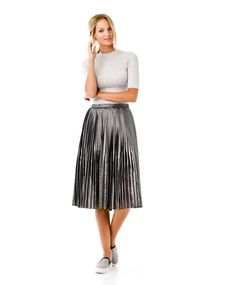 Wear a low turtleneck with a metallic midi skirt | Gina Tricot New Arrivals | www.ginatricot.com | #ginatricot