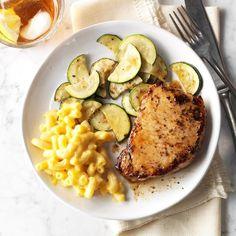 60 Cheap Dinner Ideas for Family Meals Under $10 | Taste of Home Easy Pork Chop Recipes, Pork Recipes, Cooking Recipes, Yummy Recipes, Yummy Food, Paleo Food, Yummy Eats, Yummy Yummy, Bon Appetit