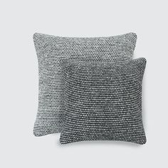 Black and White Tweed Accent Pillows