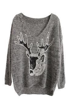 My new dream is for me to be wandering in the woods and a deer to come up to me while I'm in this sweater