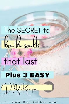 Discover the ingredient that will help your bath salts last longer. We'll explain when bath salts expire, how to package them for gifting and storage, and we'll give you 3 amazing bath salts recipes with essential oils. Bath salts. Bath salts recipe. Bath salts DIY. Bath salts with essential oils. Bath salts packaging. Bath Gift Basket, Gift Baskets, Relaxing Bath Recipes, Bath Benefits, Bath Salts Recipe, Natural Bath Bombs, Muscle Pain Relief, Cedarwood Oil, Spa Like Bathroom