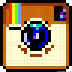 Know These Ideas When You Reach For A Camera! *** You can find more details by visiting the image link. Beaded Cross Stitch, Cross Stitch Embroidery, Cross Stitch Patterns, Pearler Bead Patterns, Perler Patterns, Pixel Art Minecraft, Crochet Pixel, Image Pixel Art, Modele Pixel Art