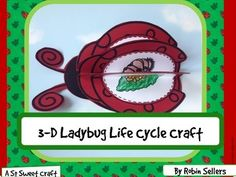 Ladybug Life Cycle: Life Cycle of a Ladybug Science Craftivity} Unique Learning System, Life Cycle Craft, School Fun, School Ideas, Spring School, Second Grade Science, Classroom Activities, Spring Activities, Kid Activities