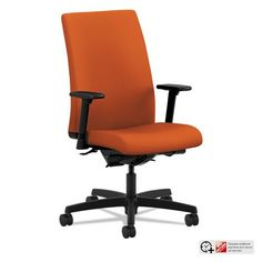 HON Ignition Mid-Back Task Chair in Tangerine