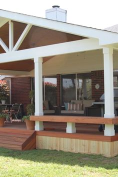 There are lots of pergola designs for you to choose from. You can choose the design based on various factors. First of all you have to decide where you are going to have your pergola and how much shade you want. Then you must decide h Wood Deck Designs, Pergola Designs, Patio Design, Deck Plans, Pergola Plans, Pergola Ideas, Pergola Swing, Cheap Pergola, Pergola Kits
