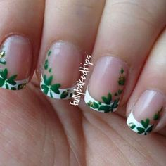 Beautiful nail art designs that are just too cute to resist. It's time to try out something new with your nail art. French Nails, Plage Nail Art, Cute Nails, Pretty Nails, Hair And Nails, My Nails, Pedicure Nails, Nail Art Designs, Irish Nails