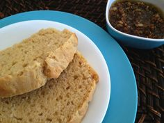 Beer Bread with Crispy Roasted Garlic and Olive Oil Dipping Sauce